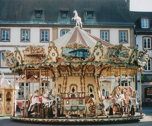 vintage, carousel, and photography image