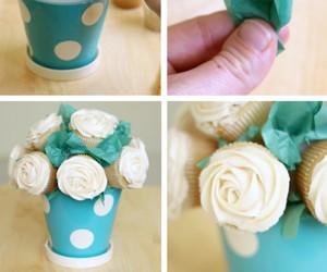 cupcakes, diy, and flores image