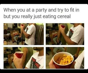 cereal, funny, and party image