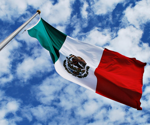 cielo, flag, and mexican image
