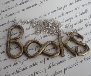 accessory, necklace, and bookish image