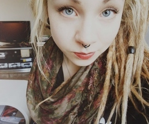girl, piercing, and dreads image