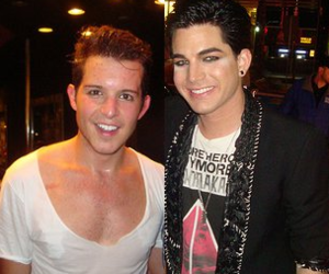adam lambert, simon curtis, and gorgeous image
