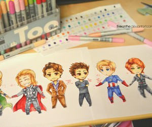 Avengers and drawing image