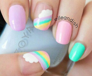 beauty, style, and pastel nails image