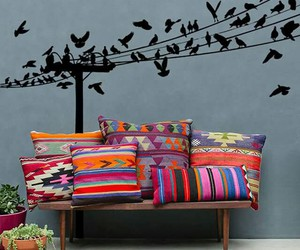 birds, colors, and decoration image