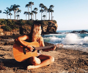 summer, guitar, and photography image