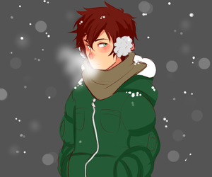 handsome, winter, and hyouka image