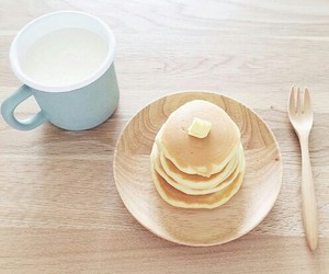 breakfast, butter, and milk image