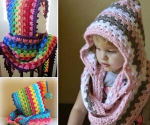 cowl, crochet, and diy image