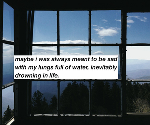 always, drowning, and life image