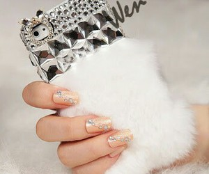 case, iphone case, and silver spikes image