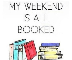 book, weekend, and reading image