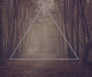 triangle, hipster, and nature image