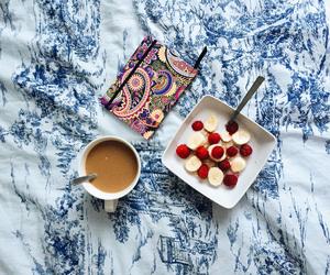 banana, bed, and blogger image