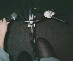 grunge, bike, and night image
