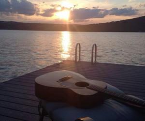 guitar, summer, and sea image