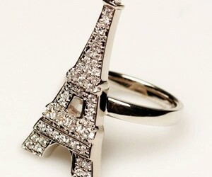 ring, accessories, and eiffel tower image