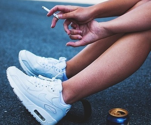 nike, smoke, and white image
