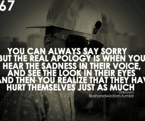 hurt, quote, and sorry image
