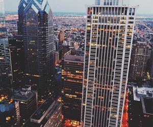 city, light, and america image
