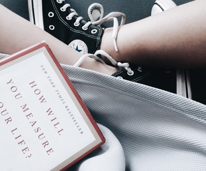 books, converse, and grey image