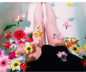 aqua, blackdress, and legs image