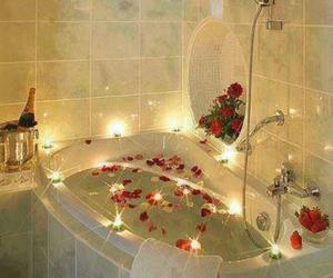 rose, romantic, and bath image