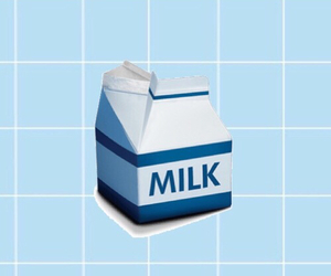 food, milk, and pale image