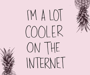 internet, pineapple, and pink image