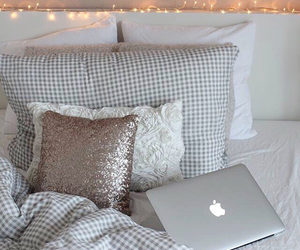 light, apple, and bed image