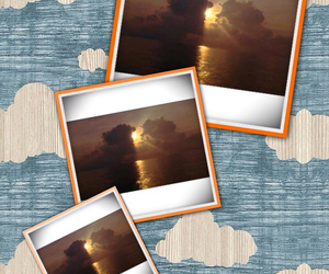 moment, sea, and sunset image