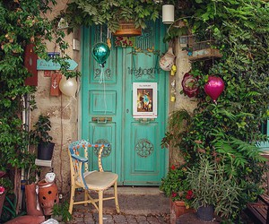 decoration, door, and green image