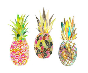 pineapple, art, and fruit image