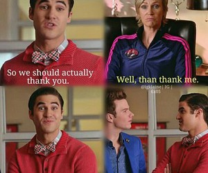 glee, sue sylvester, and klaine image