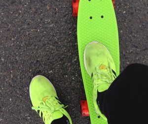 green, summer, and skate image