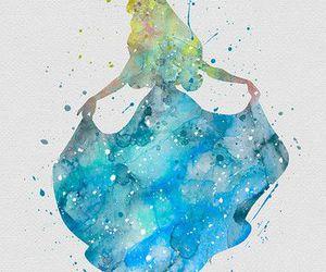 art, aurora, and watercolour image