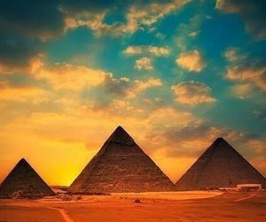 egypt, pyramid, and sky image
