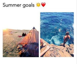 summer, goals, and beach image