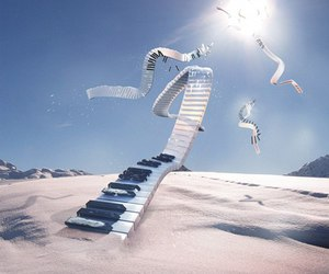 blue, creative, and piano image