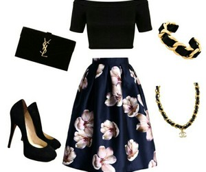 glam flowers day outfit image