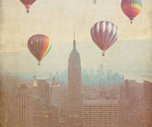 vintage, balloons, and new york image