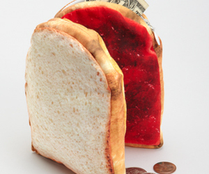 jelly, peanut butter, and wallet image