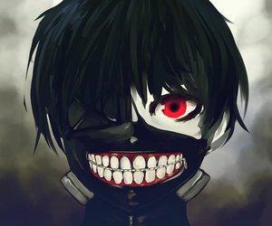 ghoul, ken kaneki, and tokyo ghoule image