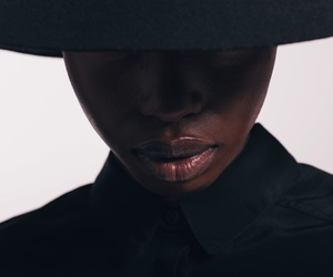 black, hat, and lips image