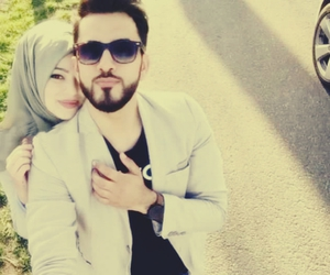 arabic, muslim couple, and hijab image