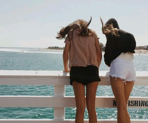 best friends, sister, and summer image