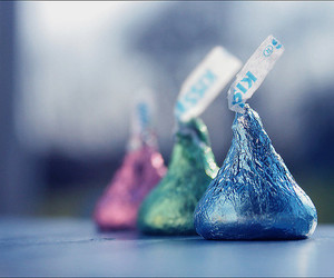 chocolate, kisses, and blue image