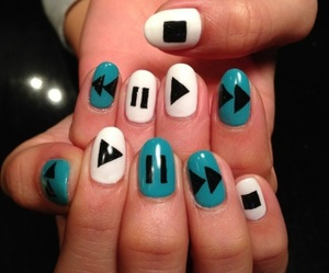 nails, play, and music image