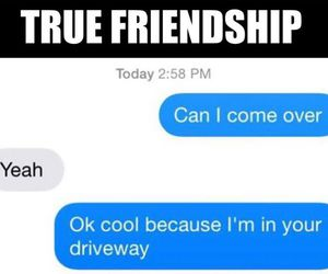 friendship, friends, and funny image